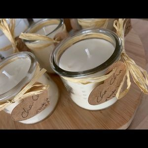 Handcrafted soy candles - rich vanilla sugar
